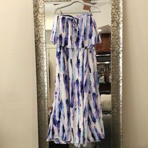 LULUS Purple Two-Piece Maxi Dress!